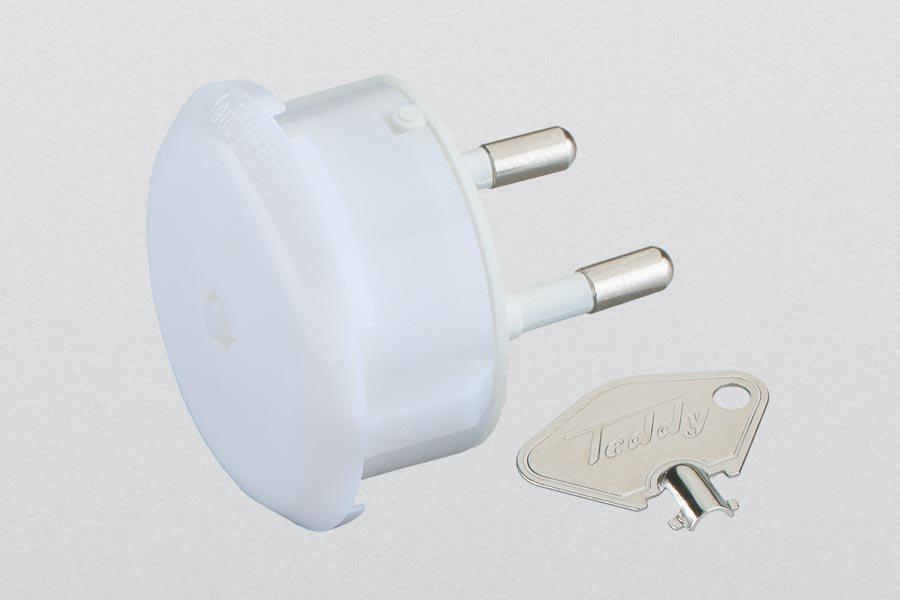 socket guard and orientation light with key